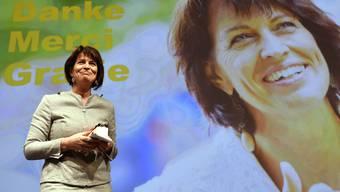Verabschiedung von alt Bundesraetin Doris Leuthard an der Delegiertenversammlung der CVP in Zürich.