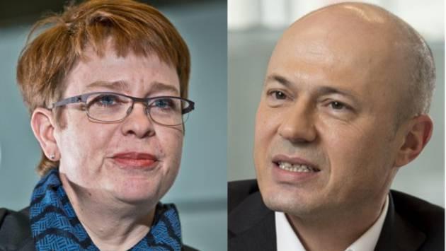 Verlierer und Gewinnerin: Peter Courvoiser und Ruth Müri.
