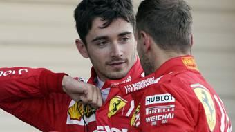 Nach dem selbstverschuldeten Doppelausfall am letzten Sonntag im Grand Prix der Steiermark beweisen die Ferrari-Piloten Charles Leclerc (links) und Sebastian Vettel mit den Startplätzen 6 und 5 in Ungarn Aufwärtstendenz