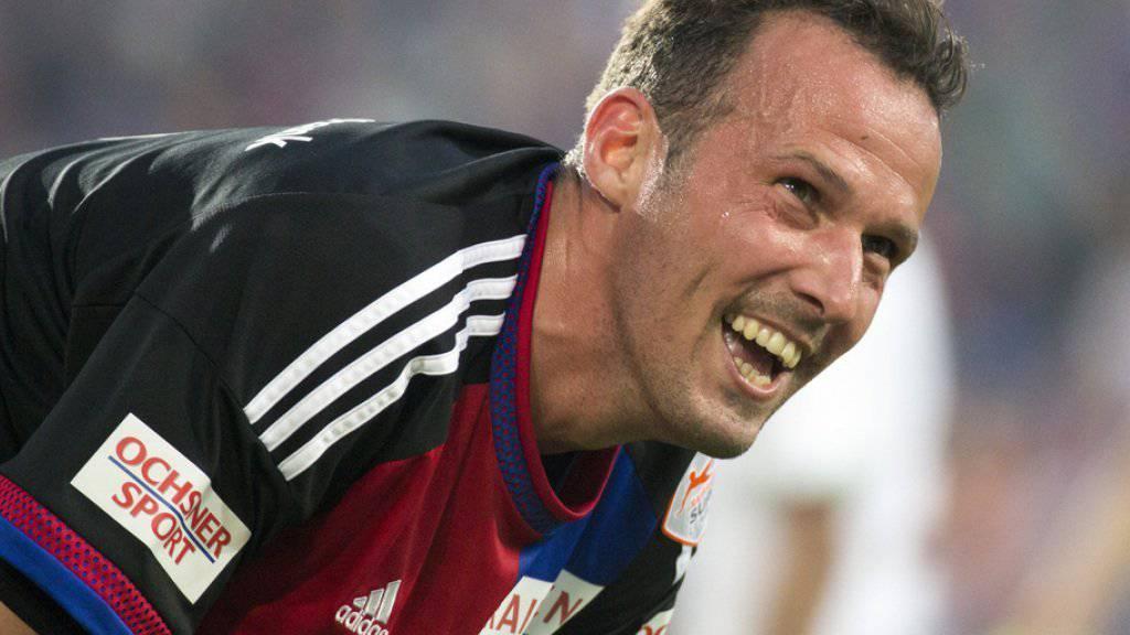Da war die Lust noch da: Wenige Monate später ist Ex-Fussballprofi Marco Streller (hier im Meisterschaftsspiel der Super League zwischen dem FC Basel und dem FC St. Gallen am 29. Mai 2015) froh, dass die Karriere vorbei ist.