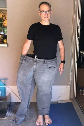 Dank besserer Ernährung passt er nun in ein Hosenbein: Christian Spiewok.