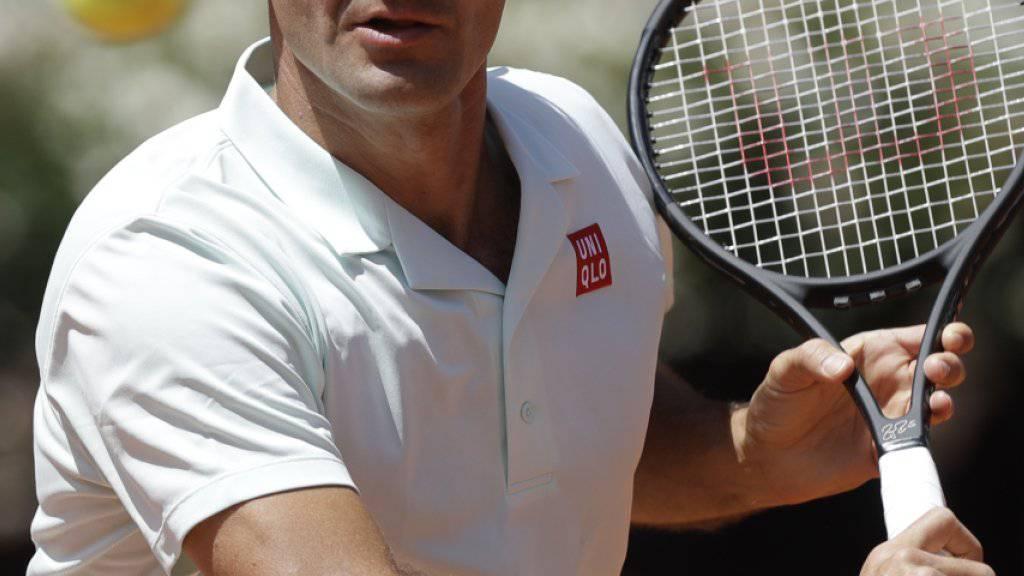 Das French Open im Visier: Roger Federer trainierte in Paris fast zwei Stunden