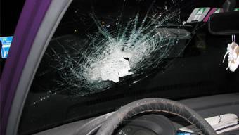 Betroffenes Auto am Distelberg.