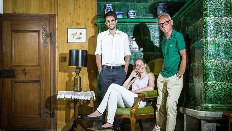 Partice Gilly, Muriel Gabathuler und Jonas Gassmann (v.r.) haben das aktuelle Saisonprogramm zusammengestellt. Archiv