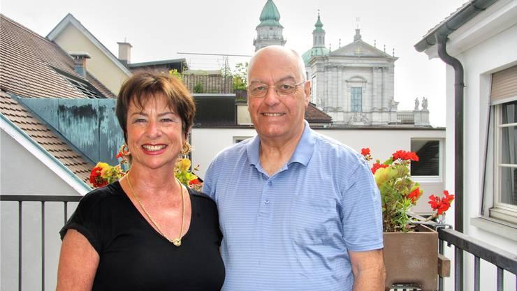 Im Sommer eher selten auf ihrer Terrasse an der Hauptgasse anzutreffen: Maya und Heinz von Gunten.