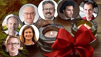 Sieben bekannte Gesichter aus dem Aargau haben uns von ihren Weihnachtserinnerungen erzählt.