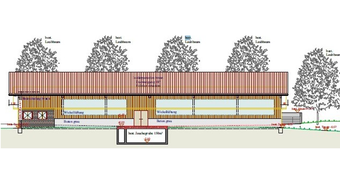 So sieht die Nordseite des neu geplante Stalls in der Goleten aus.