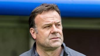 Patrick Rahmen, der Trainer des FC Aarau, ist von der Barrage-Qualifikation überzeugt