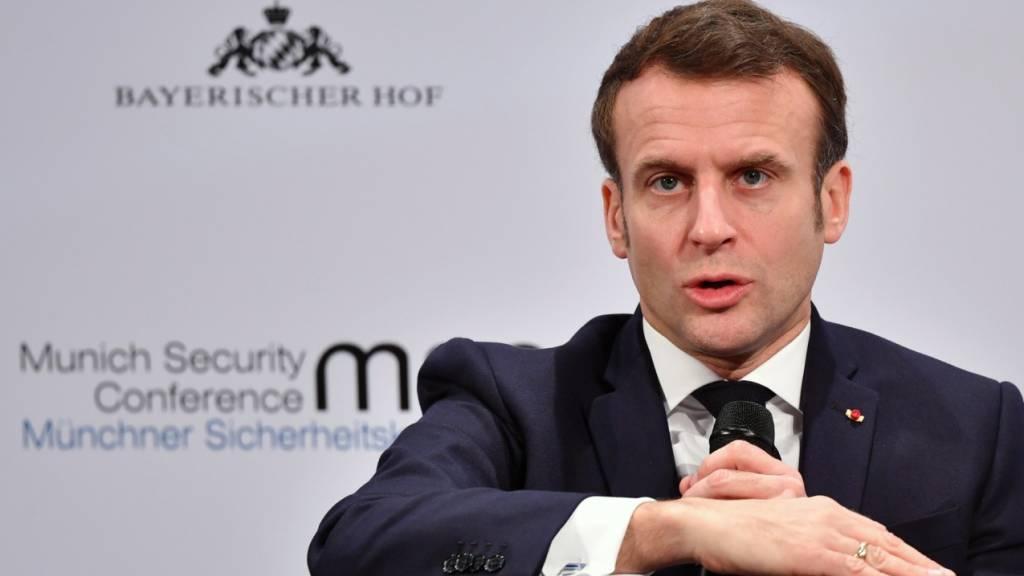 Macron beklagt auf Sicherheitskonferenz «Schwächung des Westens»