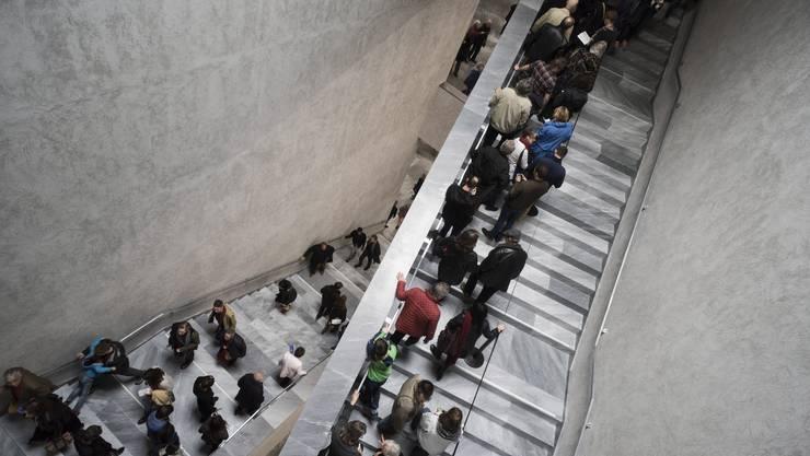 Noch nie war Treppensteigen so schön: Der Kunstmuseum-Neubau von Christ & Gantenbein, anlässlich der offiziellen Eröffnung am 17. April.