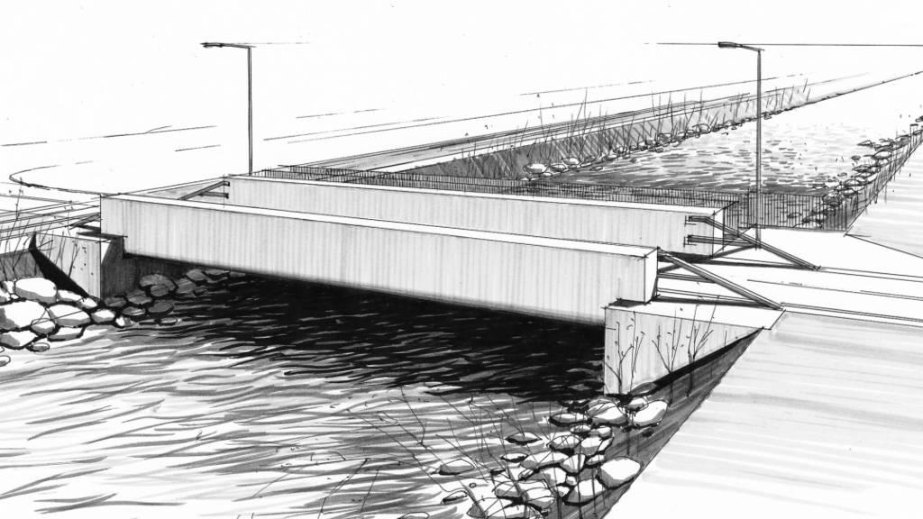 Neue Brücke über die Sarneraa zwischen Kägiswil und Kerns