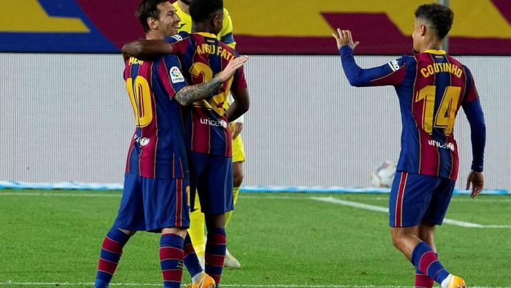 Lionel Messi und Ansu Fati erleben einen harmonischen Saisonauftakt gegen Villarreal