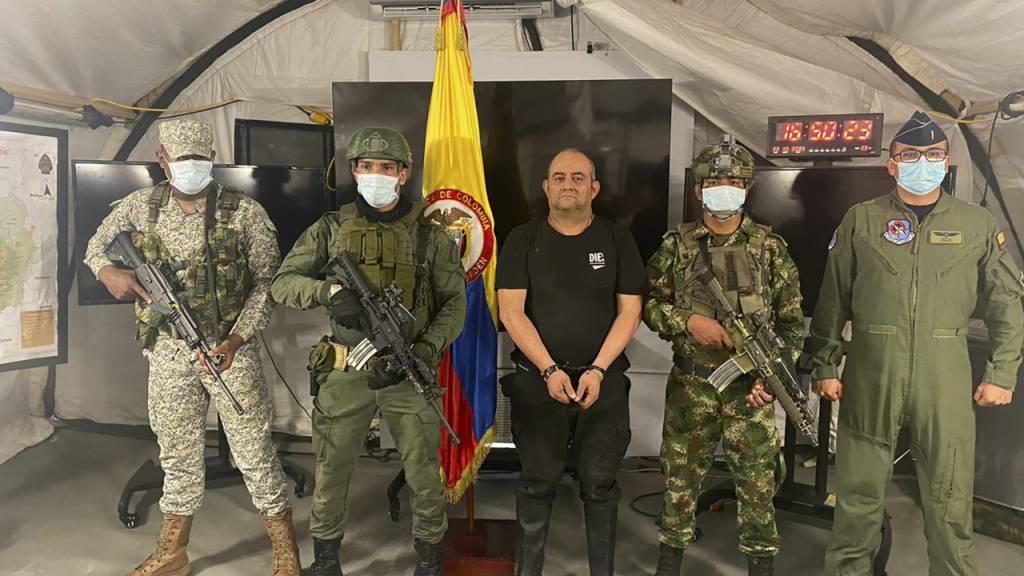 Meistgesuchter Drogenboss in Kolumbien gefasst