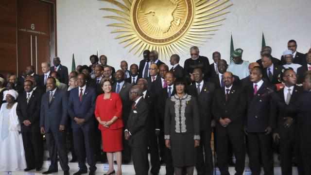 Fototermin am Gipfel der Afrikanischen Union in Addis Abeba