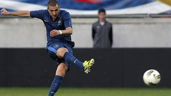Karim Benzema gegen Island ohne Torerfolg.