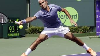 Federer erreicht in Key Biscayne die Achtelfinals