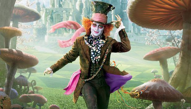Johnny Depp als der verrückte Hutmacher in der Disney-Verfilmung von «Alice im Wunderland.»