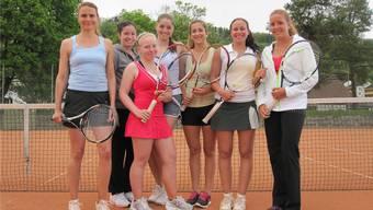 Das Interclub-Team des TC Brugg mit (v. l.) Michelle Paroubek, Alexandra Vukota, Amanda Schneider,Ladina Solèr,