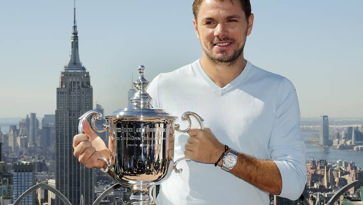 "Stan Wawrinka posiert auf dem ""Top of the Rock"""