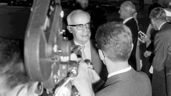 Der Höhepunkt seiner politischen Karriere: Willy Spühler sorgte als Bundespräsident mit seinen Reden für Aufsehen.