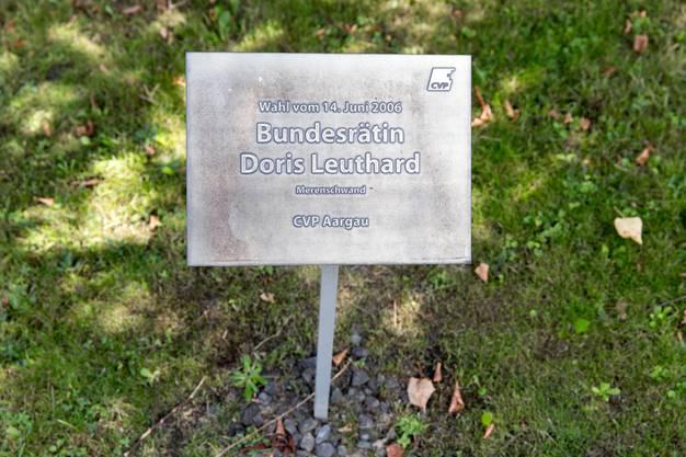 Leuthard ist in Merenschwand präsent – etwa dank dieser Ehrentafel.
