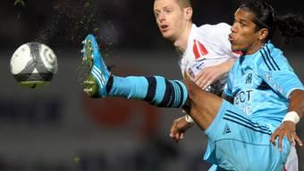 Brandao (rechts) markierte den zweiten Treffer für Marseille