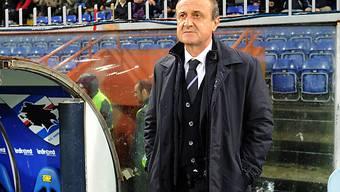 Sampdorias Coach Delio Rossi trotz Sieg mit skeptischem Blick.