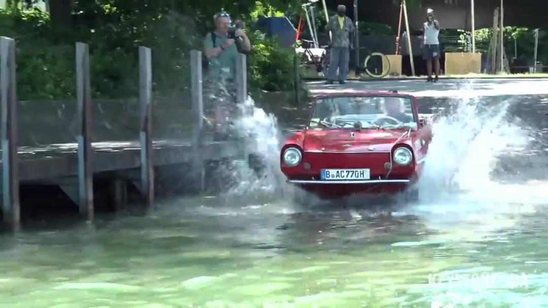 Züri-Fäscht: Mit dem Schwimmauto über den Zürichsee
