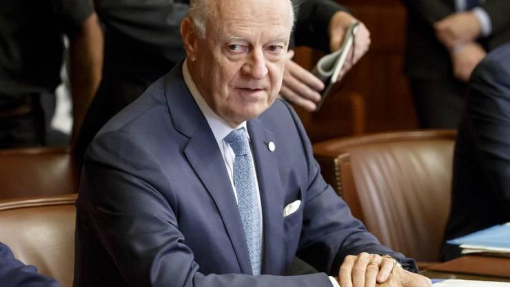Der Uno-Syriengesandte Staffan de Mistura hat seinen Rücktritt angekündigt. (Archivbild)