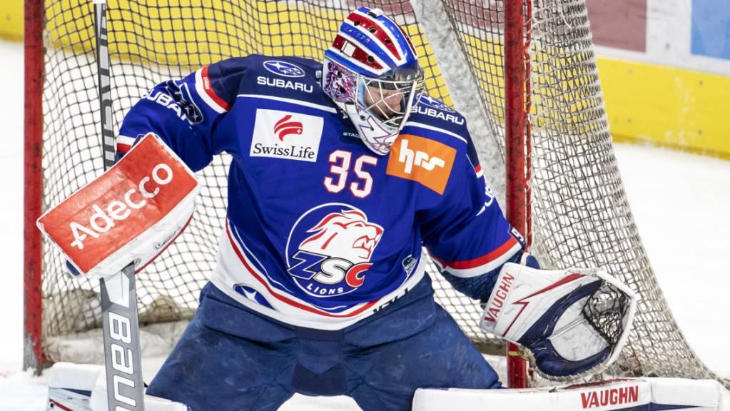 Trumpft als Debütant in den Playoffs gross auf: ZSC-Goalie Ludovic Waeber