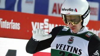 Kein Grund zur Zufriedenheit: Simon Ammann scheiterte in Oberstdorf bereits in der Qualifikation