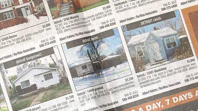 Immobilienanzeigen in einer Zeitung (Archiv)