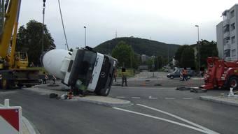 Umgekippter Lastwagen Liestal