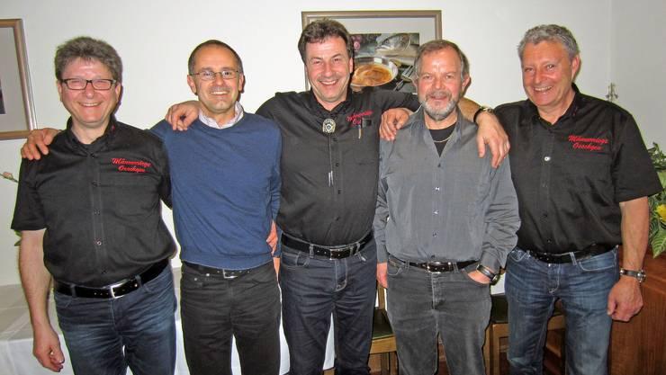 v.l.n.r Heinz Hossli, Herbie Meier, Franz Zundel, Reini Hauswirth, Willi Siegrist