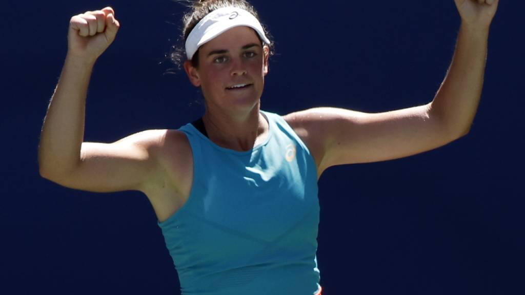 In New York nicht zu stoppen: Die Amerikaner Jennifer Brady steht ohne Satzverlust im US-Open-Halbfinal