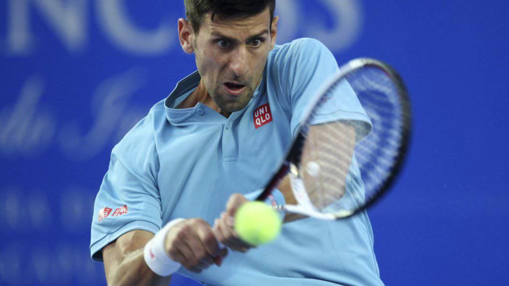 Novak Djokovic musste im Match gegen Juan Martin Del Potro alles geben