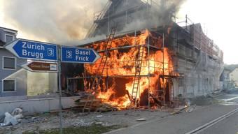 Brand in Haus in Bözen