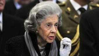 Königin Fabiola von Belgien in einer Aufnahme von 2009 (Archiv)