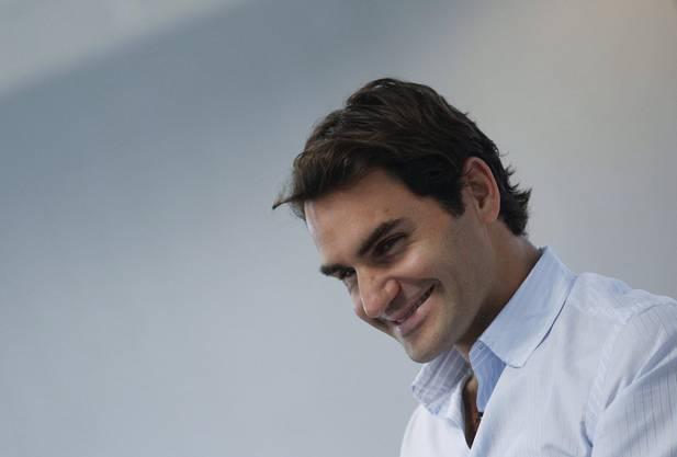 Bereits zum 12. Mal verliehen die Basler Sportjournalisten den Preis an Tennisstar Roger Federer.