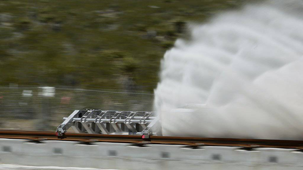Erster Praxistest der Hyperloop-Komponenten im Mai in der Nähe von Las Vegas.