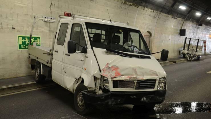 Der Lieferwagenlenker verlor die Kontrolle über sein Fahrzeug.