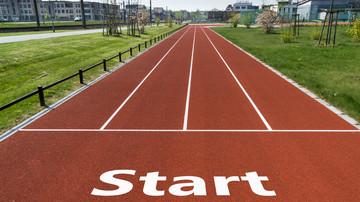 Tartanbahn Start