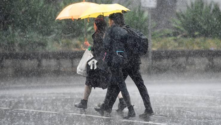 Wenn schlechtes Wetter glücklich macht: endlich Regen in Sydney.