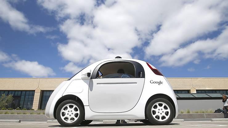 Die selbstfahrenden Google-Autos sind auf den öffentlichen Strassen im kalifornischen Mountain View unterwegs.