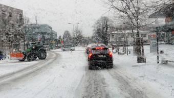 Schneefall im Freiamt