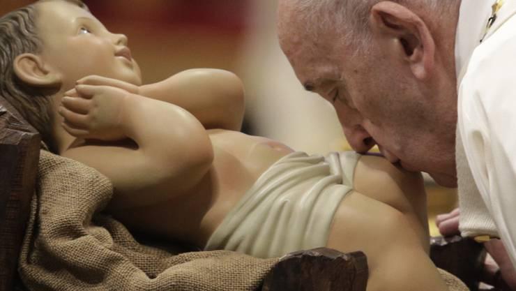 Im Alter von 83 Jahren ein neues Thema gefunden: die Frau. Papst Franziskus am Neujahrstag im Petersdom.