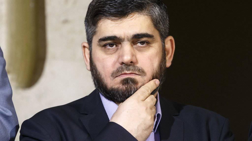 Hat genug: Chefunterhändler der syrischen Opposition, Mohammed Allusch tritt zurück. (Archivbild)