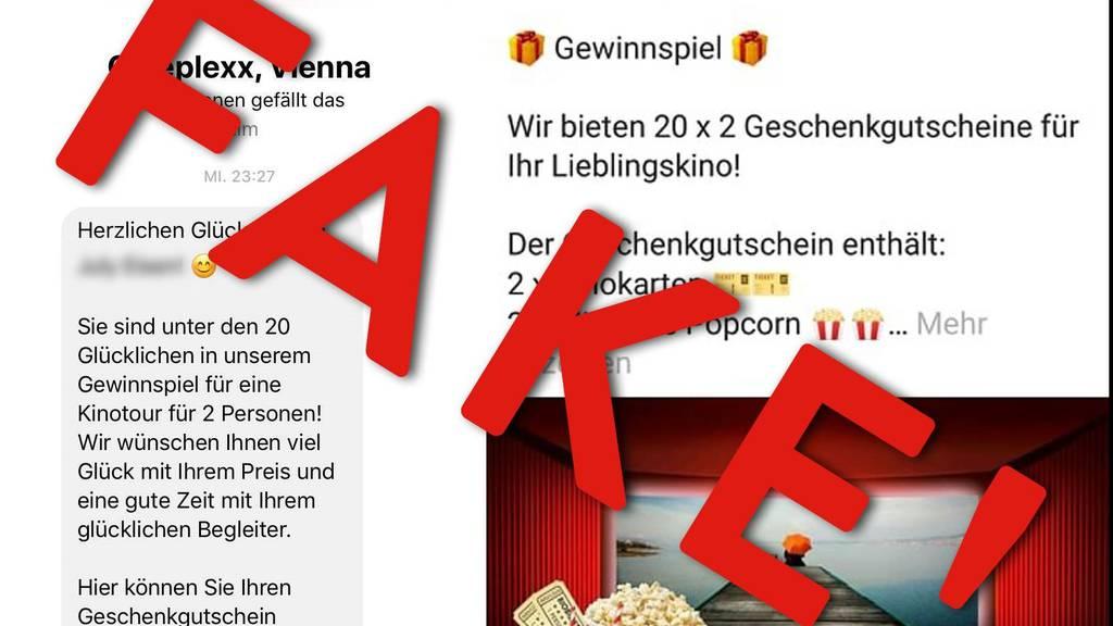 Vorsicht: Gewinnspiel auf gefälschter Cineplexx-Seite