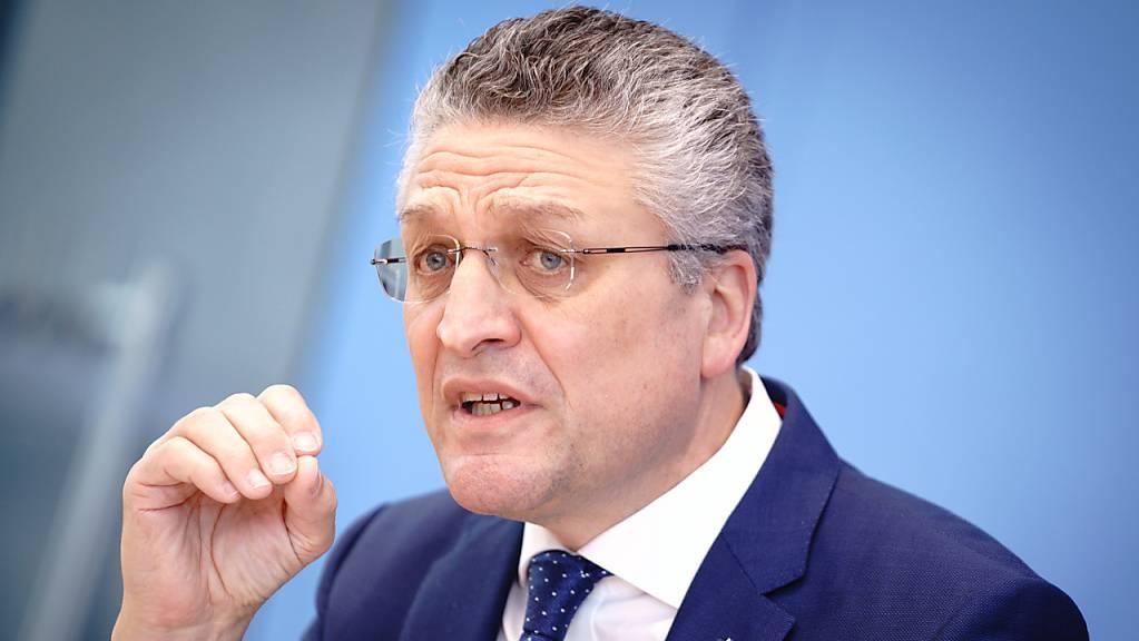 Lothar H. Wieler, Präsident des Robert-Koch-Institut während der Pressekonferenz zur Corona-Lage.