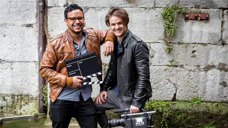 Simon Saner (l.) und Ray Kroi drehen professionelle Werbe- und Imagefilme.